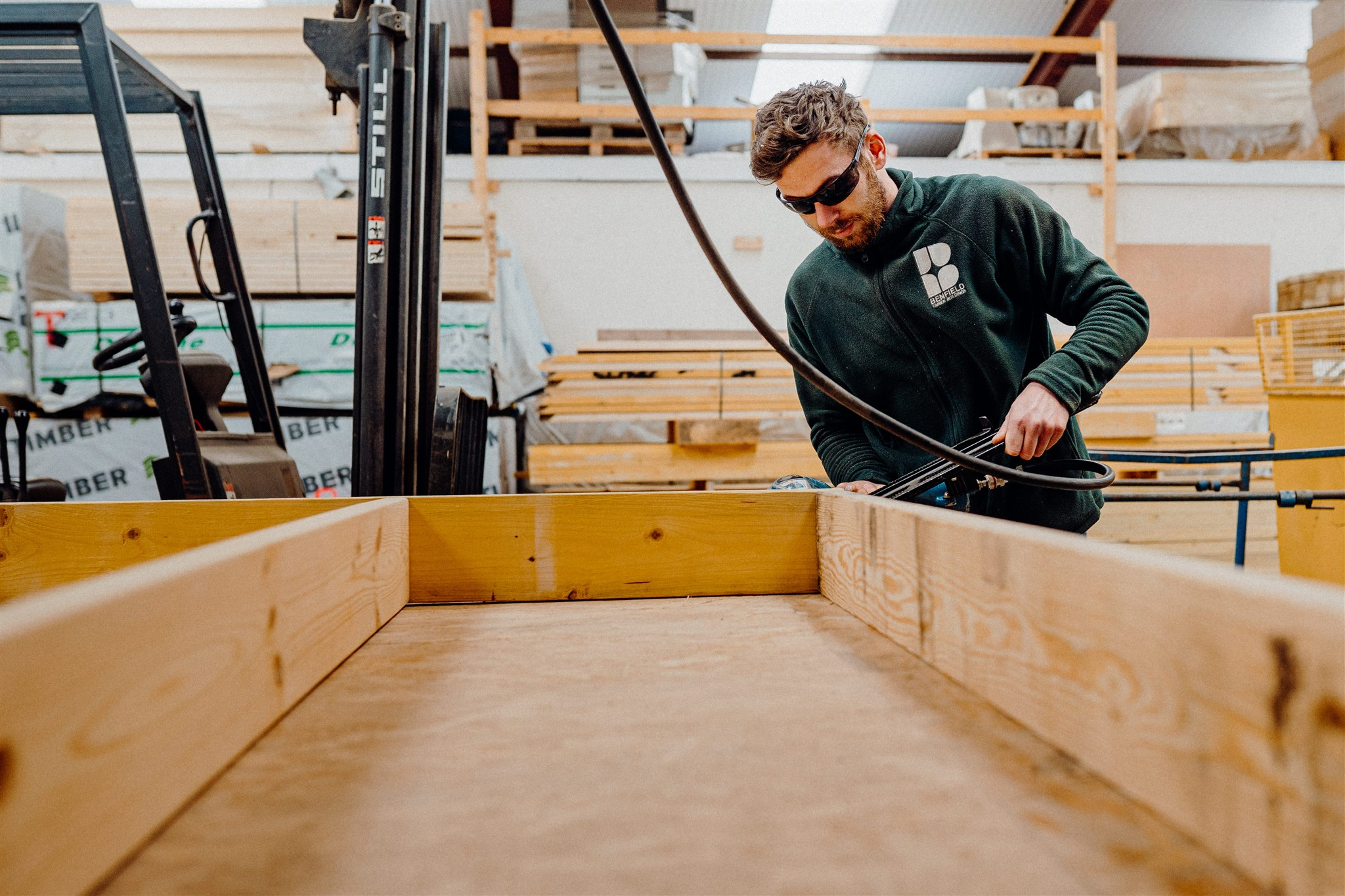 Building a Timber Frame panel